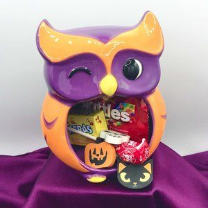 Halloween Owl Open Mouth Candy Dish Decora…